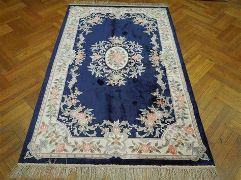 blue aubusson rug brilliant silk 5x8 navy blue design aubusson rug ebay