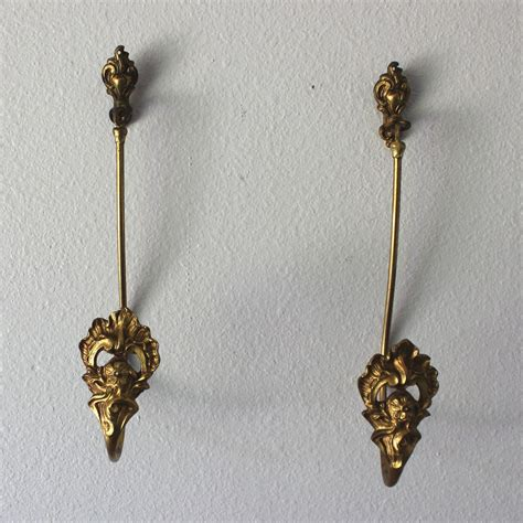 antique drapery tiebacks pair of antique gilded bronze drapery curtain tie backs