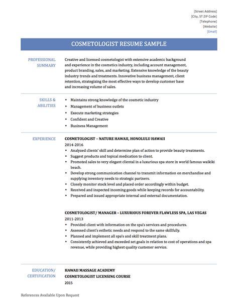 Beautician Resume Sample resume sample cosmetologist resume sample cosmetologist resume sample