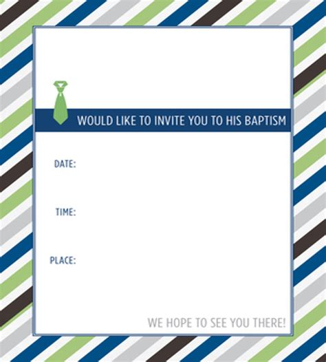 Baptism Invitation Blank Templates For Boy Weareatlove Com Lds Powerpoint Templates