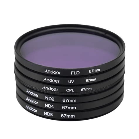 Filter Nd8 67mm Merk Tianya andoer 67mm uv cpl fld nd nd2 nd4 nd8 photography filter kit set ultraviolet circular