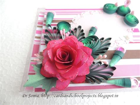 Handmade Paper Flowers For Cards - cards crafts projects handmade paper flowers