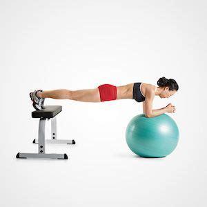swiss ball plank  bench skinnyalways abs workout