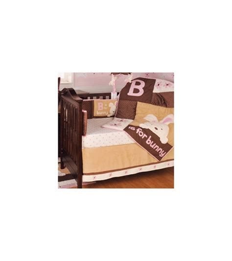 kidsline crib bedding kidsline b is for bunny 4 piece crib bedding set