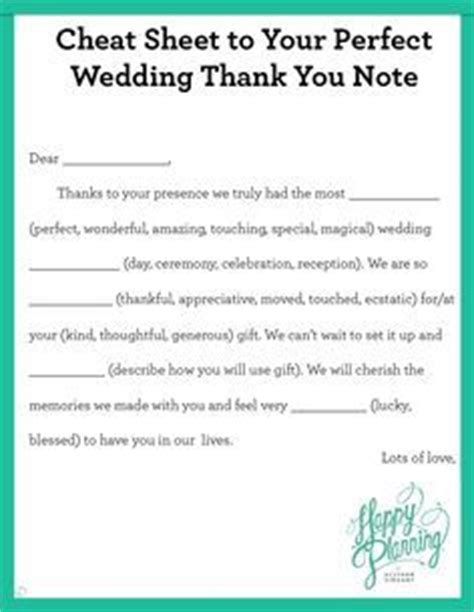 thank you letter to parents for gifts sheet to your wedding thank you note