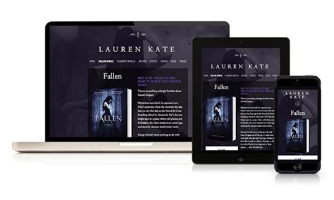 What Makes A Author Website by Author Website Design For Best Selling Author Kate