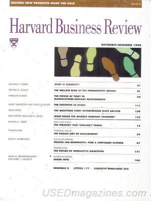 Harvard Mba Program Details by Backissues Harvard Business Review November December