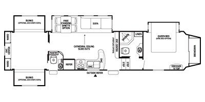 silverback rv floor plans specs for 2012 fifth wheel forest river cedar creek