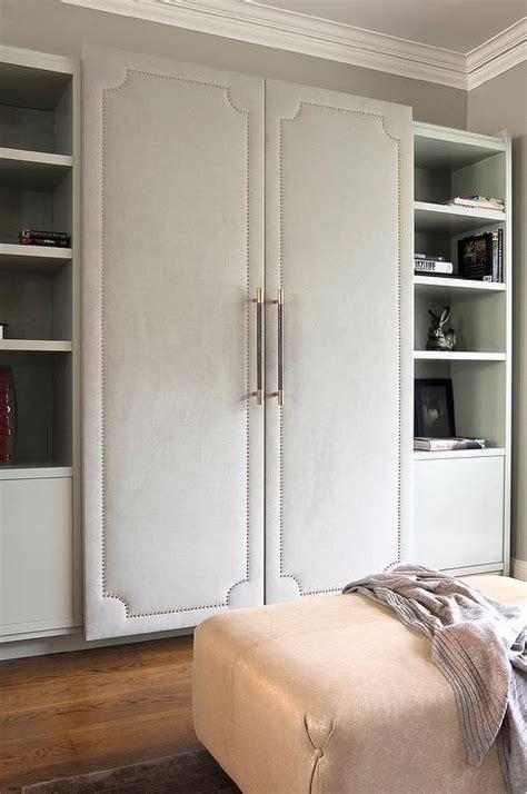 fabric closet doors fabric paneled wardrobe doors design ideas