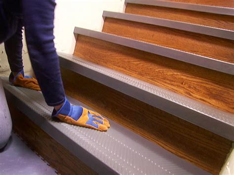 How To Make A New Mat Less Slippery by Installing Non Slip Stair Treads How Tos Diy