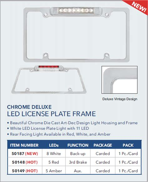 Accesories Number Plate W Led Unit Set By Killerbody license plate lights frames and accessories