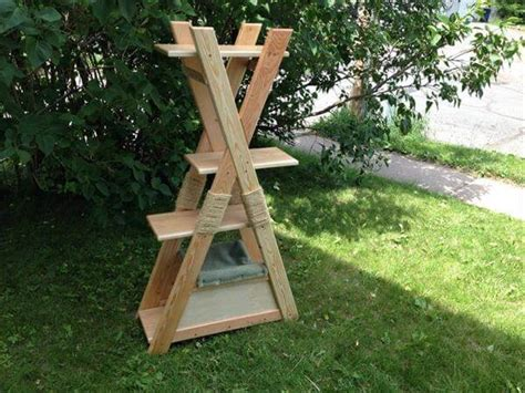 how to keep cats outdoor furniture diy pallet cat tower