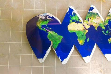 How To Make Paper Earth - how to make icosahedral planet ornaments 171 math craft