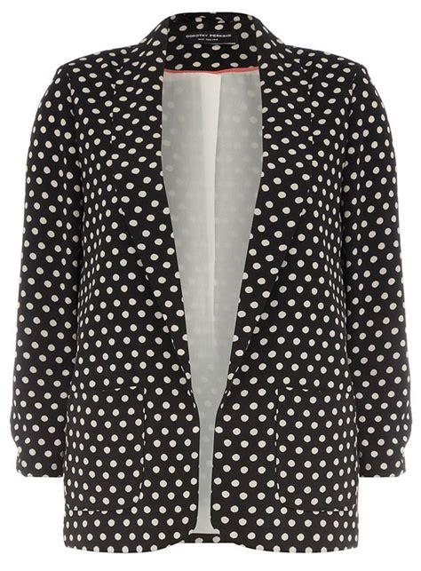 Jaket Polkadot Polka Dot Blazer 9 Lightweight Cover Ups