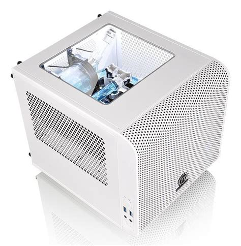 Thermaltake V1 Snow thermaltake unveils the v1 snow mini itx chassis