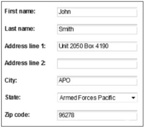 Apo Ae Address Lookup Macy S Apo Shipping Policy Who Ships Apo