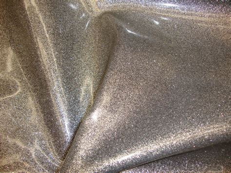 Orion Silver Glitter Vinyl Upholstery Fabric By
