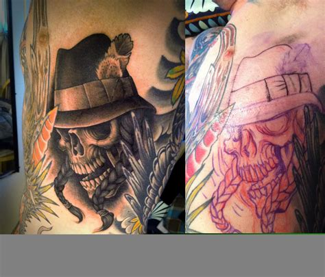 gangster skull tattoos gangsta images designs