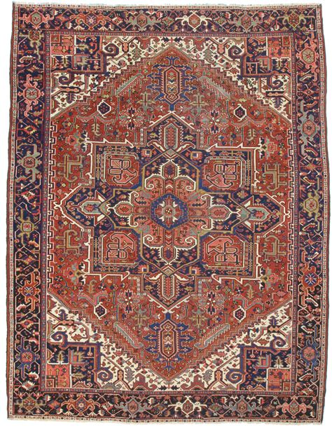 Rugs 9 X 12 by 9 X 12 Antique Heriz Rug 12105 Exclusive