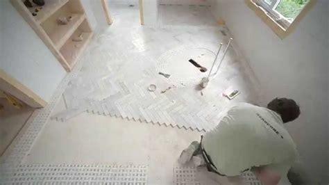 Chevron Bathroom Ideas by Installing Herring Bone Tile Episode 175 Renos