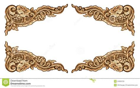 pattern of wood frame carved flower carved frame stock photo image 24930720