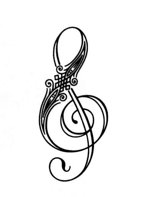 treble clef tattoo design treble clef designs cliparts co