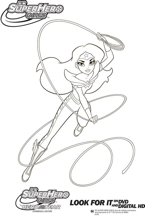 coloring page girl superhero dc super hero girls partnerships zakhill group