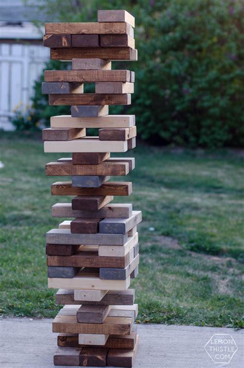 5 diy yard hours of jenga dominoes yahtzee