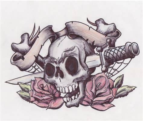 rose and sword tattoo design designs by norman arthur