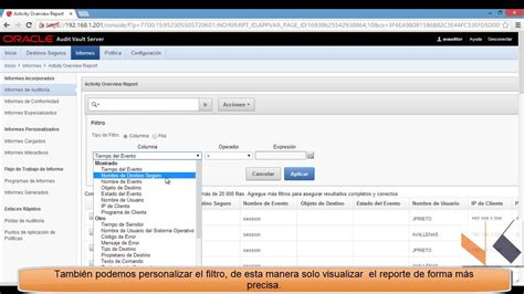 V Audit Oracle by Oracle Audit Vault And Databasefirewall Escenario 2