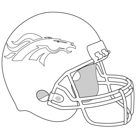 nfl coloring pages broncos denver broncos helmet coloring page free printable