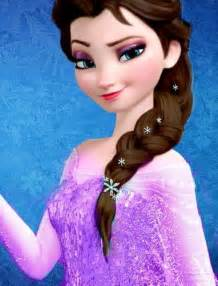 elsa hair color if she were to lose power like rapunzel did with