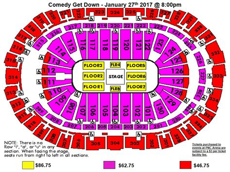 pnc arena seating chart seating charts pnc arena