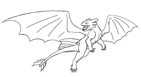 toothless lineart by targonreddragon on deviantart