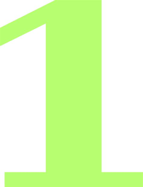Green Mba Number 1 by Lime Number One Clip At Clker Vector Clip