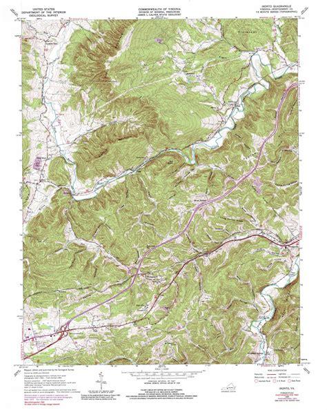 virginia topographic map ironto topographic map va usgs topo 37080b3