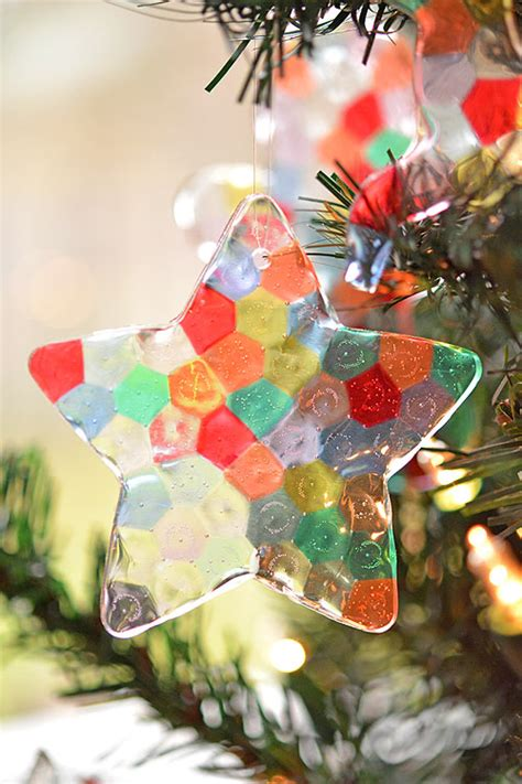 What Can You Make In A Toaster Oven Melted Bead Ornaments Pony Bead Christmas Ornaments