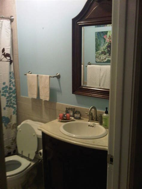 small bathroom no window a little southern sass brand new blue bath