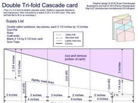 Cascade Card Template by Great Site With Loads Of Templates For Pop Up Or Fancy