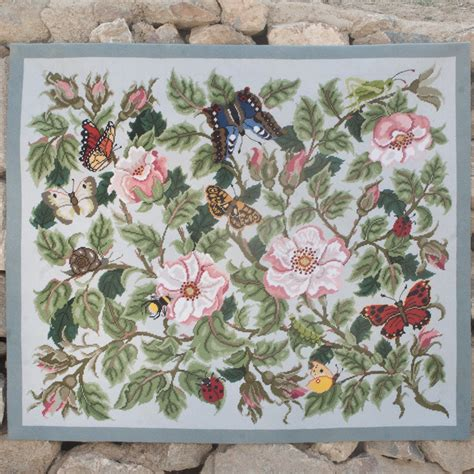 needlepoint rug kits needlepointus world class needlepoint beth needlepoint garden collection