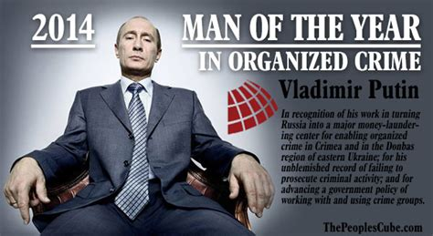 Does Cube A Criminal Record Putin Named Of The Year In Organized Crime Category