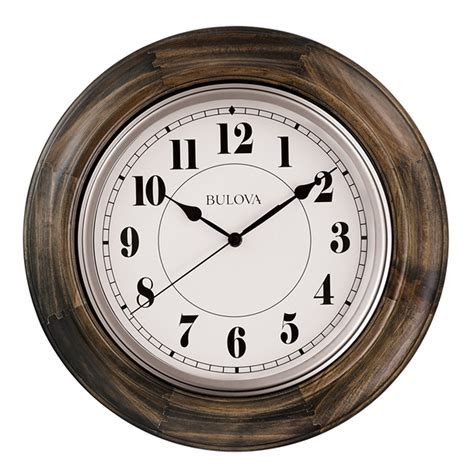 wooden wall clock albany 16 quot wooden wall clock c4847 clockshops com