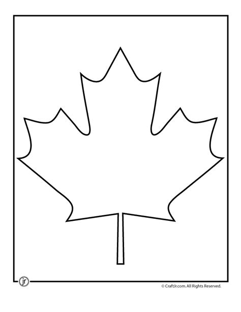 maple leaf printable template canadian maple leaf template woo jr activities