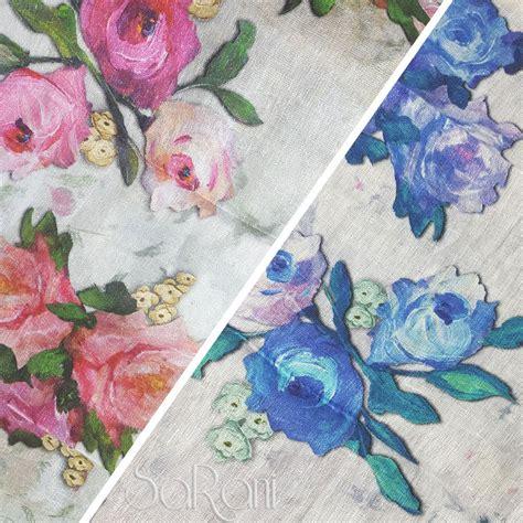 tessuto per cuscini tessuto isla lino fiori colorato floreale arredo tendaggi