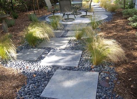 minute gardener photo concrete stepping stones