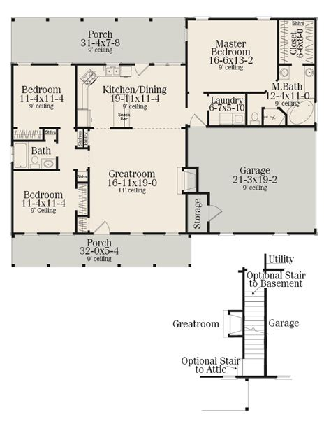 Small Ranch Floor Plans Sutherlin Small Ranch 5458 3 Bedrooms And 2 5 Baths The House Designers