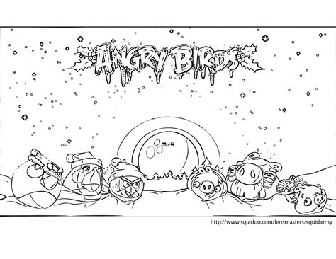 angry birds coloring pages christmas angry birds coloring pages squid army