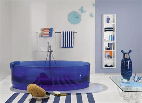 Blue Tub Bathroom by Colored Bathtubs