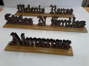 wood desk name plates wooden desk name desk namescustom wood nameswood