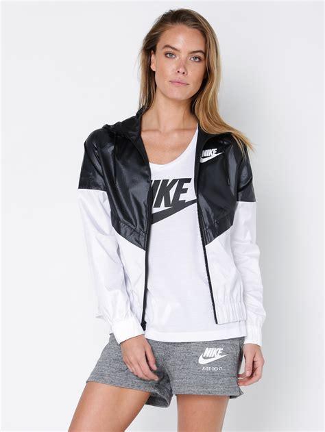 nike windrunner jacket  black white